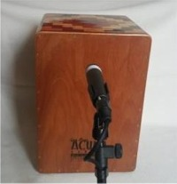 [How To Mic-Up a Cajon Using a Single Microphone - Placed in Front of Cajon]